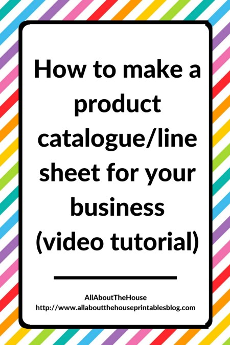 How to make a catalogue, product line sheet, business template, photoshop, form, editable, magazine, how to make a catalog