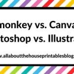 Picmonkey versus Canva versus Photoshop versus Adobe Illustrator: Which one is best for graphic design?