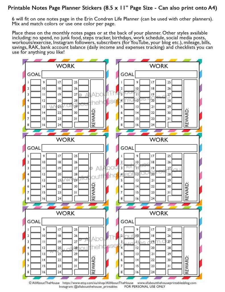 work-routine-schedule-tracking-hours-printable-rainbow-planner-sticker-shift-business-client-invoicing-erin-condren-planner-insert-happy-planner-note-min