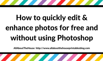 How to quickly edit & enhance photos for free and without using Photoshop
