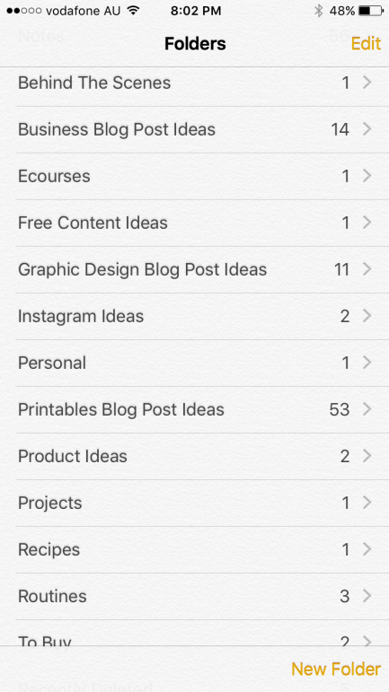 How to keep track of blog post ideas using your iPhone