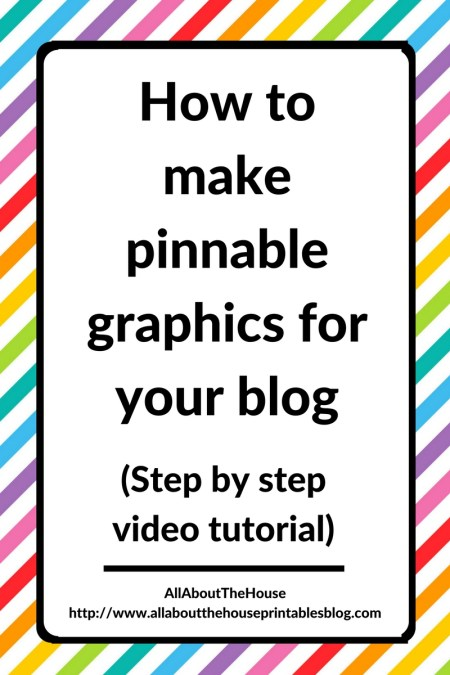 How to make pinnable graphics for your blog step be step video tutorial photoshop seo marketing blogging pinterest