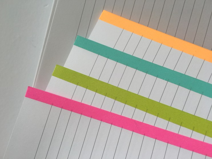 color coded notes pages using washi tape school subject category how to use blank note paper