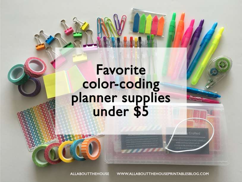 favorite planner supplies for color coding that cost less than 5 dollars back to school accessories washi tape planner stickers highlighter