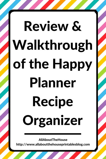 review of the happy planner recipe organizer mambi video how to organize recipes discbound planning system gift