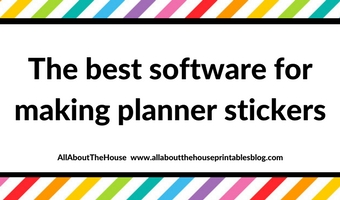 Silhouette Studio Software versus Photoshop: Which is better for making planner stickers?