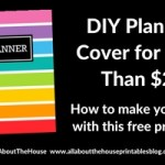How to make a DIY Erin Condren Planner Cover for less than $2 (plus free printable cover)