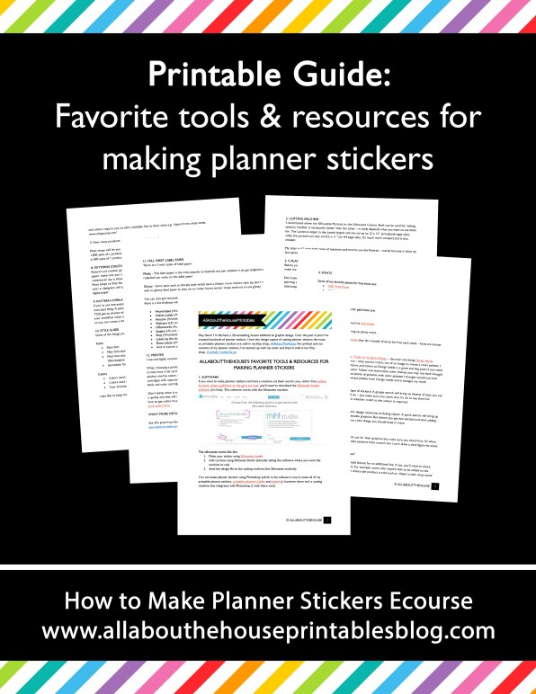 how to make planner stickers step by step tutorial using silhouette studio favorite tools resources graphics digital paper printable checklist guide workflow tutorial