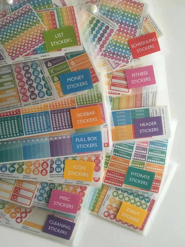 how to organize planner stickers free printable stickers planner supplies addict obsessed stationery rainbow etsy sticker shop