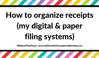 How to organize receipts for tax time (digital and paper filing systems)