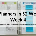 Minimalistic planning: how to plan your week using a blank notes page and stickers (52 Planners in 52 Weeks – Week 4)
