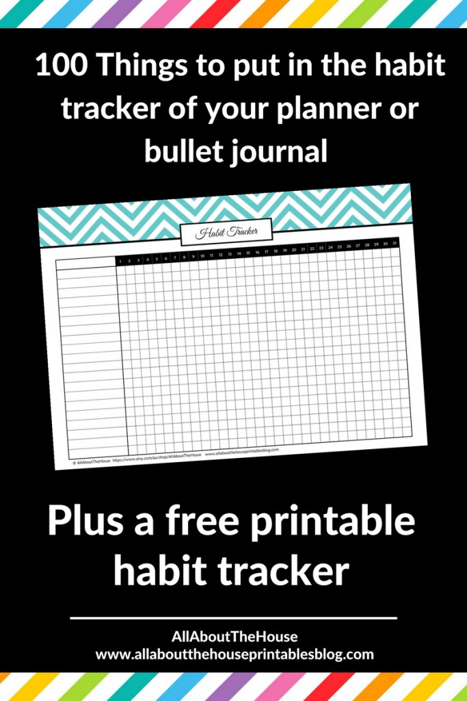 free printable habit tracker routine checklist planner printable how to use a bullet journal color code inspiration ideas