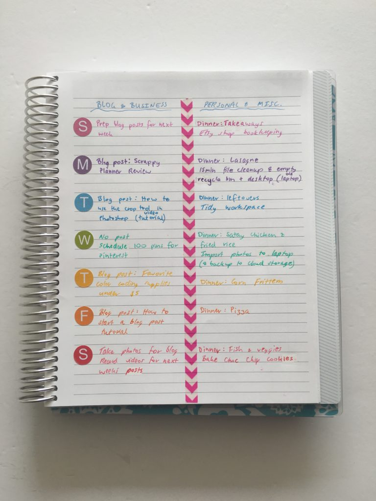 how to plan your week using stickers and washi functional decorating ideas planner system use blank notes pages