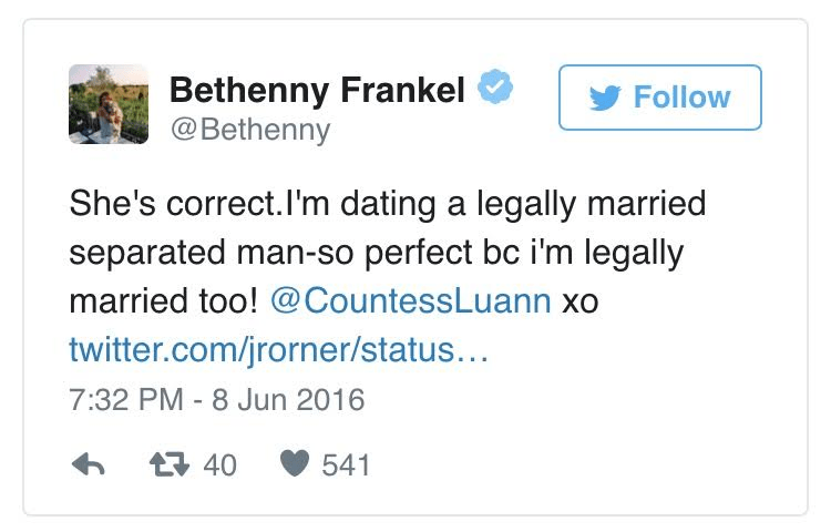 Dating for 7 years legally married