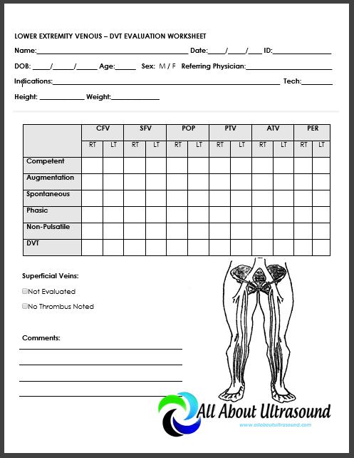 Upper Extremity Arterial Ultrasound Worksheet
