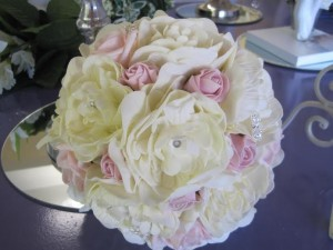 ivory and pink buds