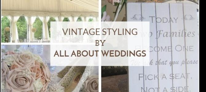 Vintage Wedding Styling by All About Weddings