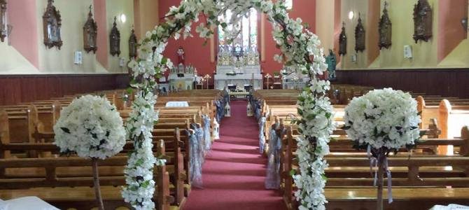 Ceremony decor at Castlebridge, Co. Wexford