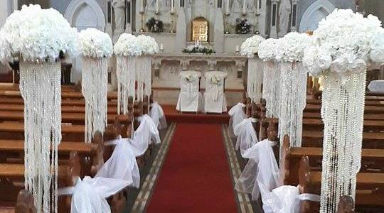 ceremony decor at St Patricks Church Wicklow Town