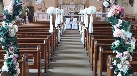 Ceremony Decor at St Abbans Church Adamstown Wexford