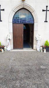 Ceremony Decor at St Abbans Church Adamstown Wexford