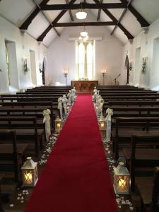 Ceremony Decor & Venue Styling at Brook Lodge Macreddin Village Aughrim