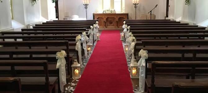 Ceremony Decor & Venue Styling at Brook Lodge Macreddin Village Aughrim