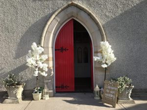Ceremony Decor at Bansha Church