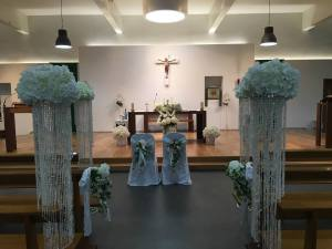 Ceremony Decor at Rathfarnham Church, Dublin