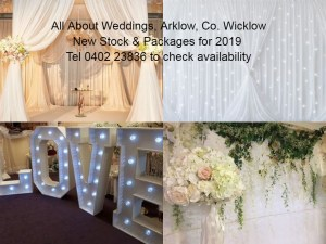 All About Weddings Decor Packages 2019