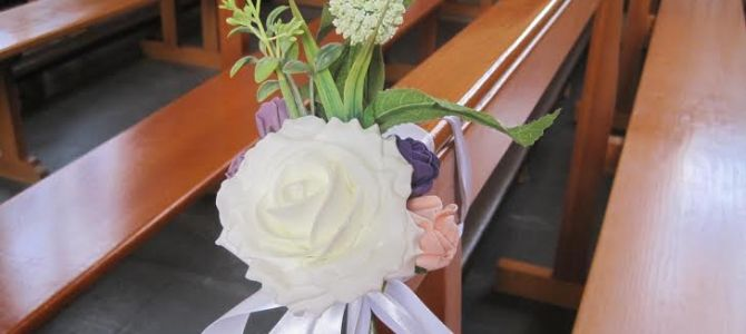 Vintage Style Pew Ends by All About Weddings