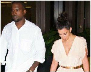 Kim Kardashian and  Kanye West /twitter