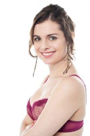 Woman in In Pink Brassiere