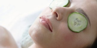 Cucumber for tired eyes