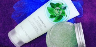 Body Shop Fuji Green Tea Body Scrub and Sorbet