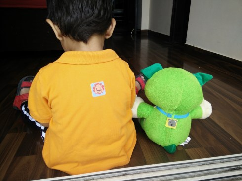 Buzz off repellent patches on my baby and his favourite toy