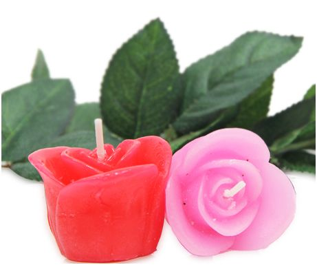 Rose Embossed Candles