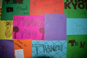 Thank you cards received