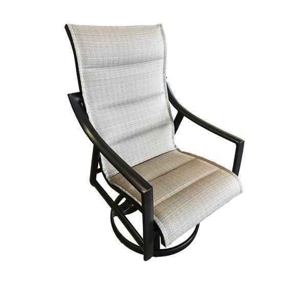 stratford padded sling swivel rocker chair
