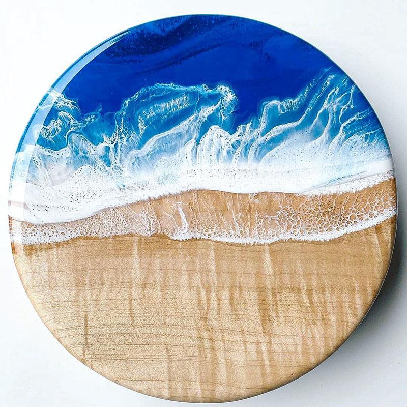 1.2 Chill Epoxy. Cutting Board. Beach.