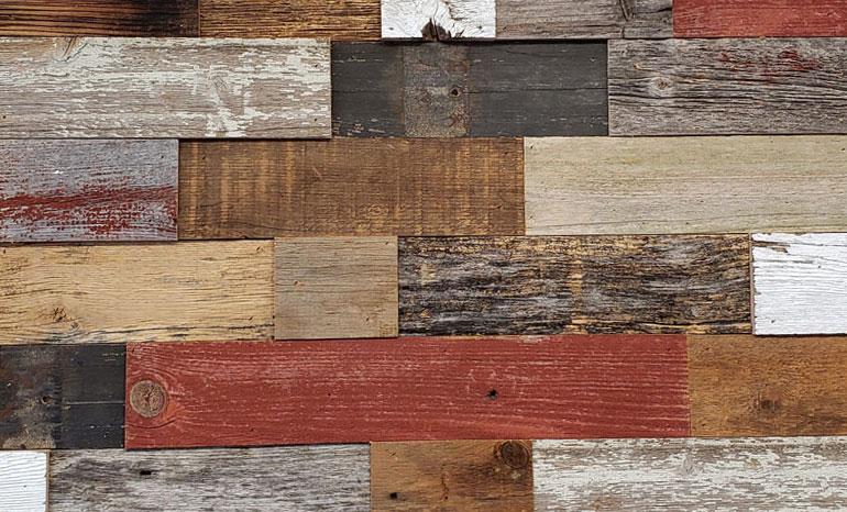 Wall Cladding 6 Colored Barn Wood