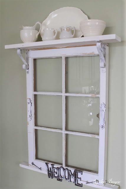 Reclaimed Window Shelf