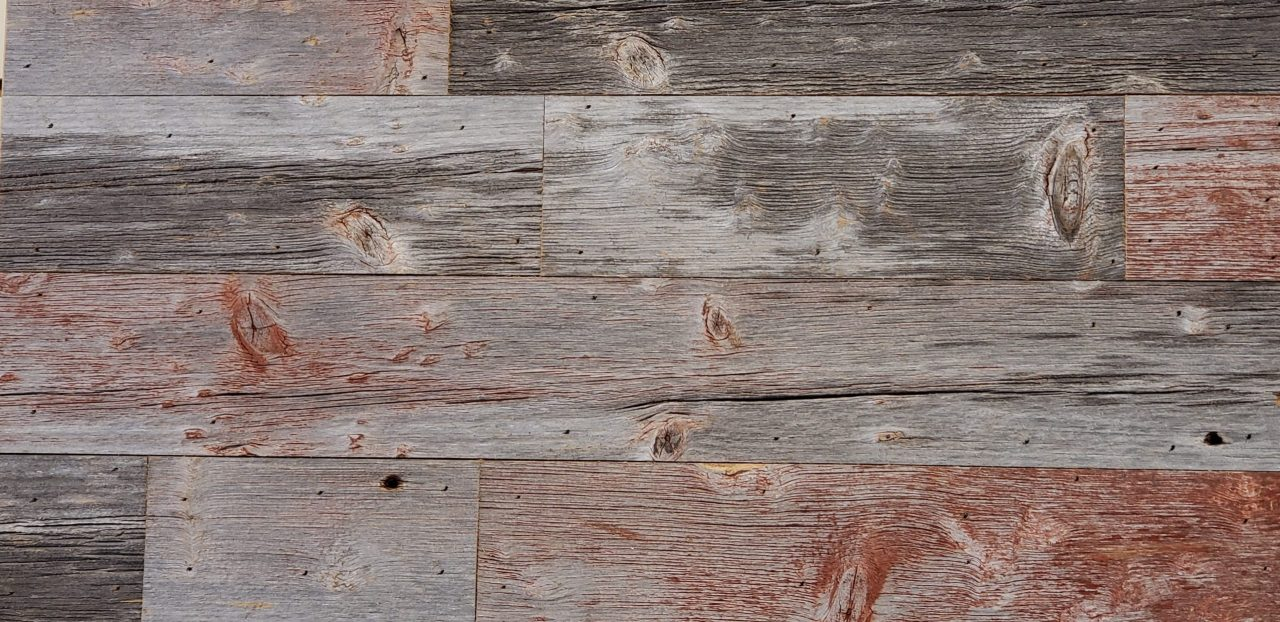 Wall Cladding 8 Faded Red Gray