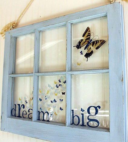 Painted Window Decor