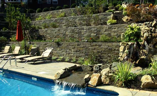 Building Pond Waterfall