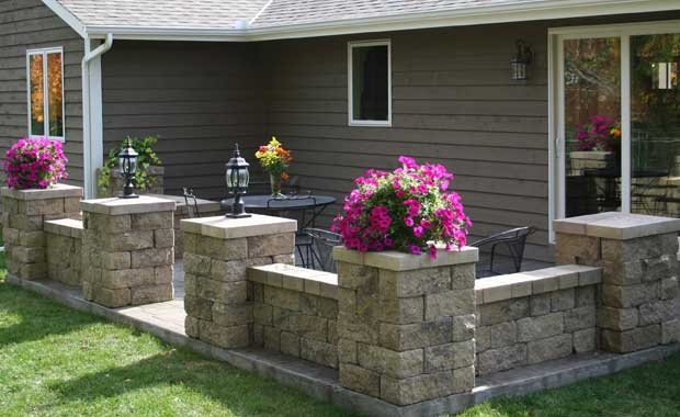 Home Retaining Walls and Other Outdoor Landscaping Projects on Patio Stone Wall Ideas id=66893