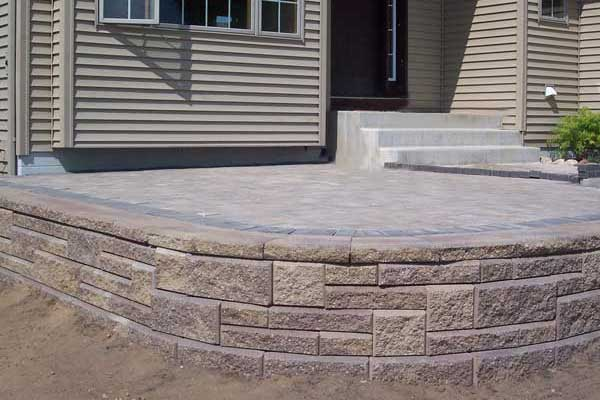 How to Build a Raised Patio with Retaining Wall Blocks on Patio Block Wall Ideas id=99087