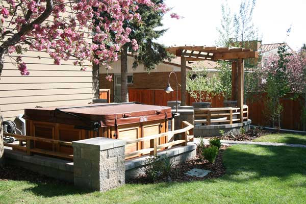 beautiful raised patios