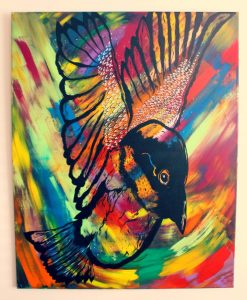 abstract bird painting