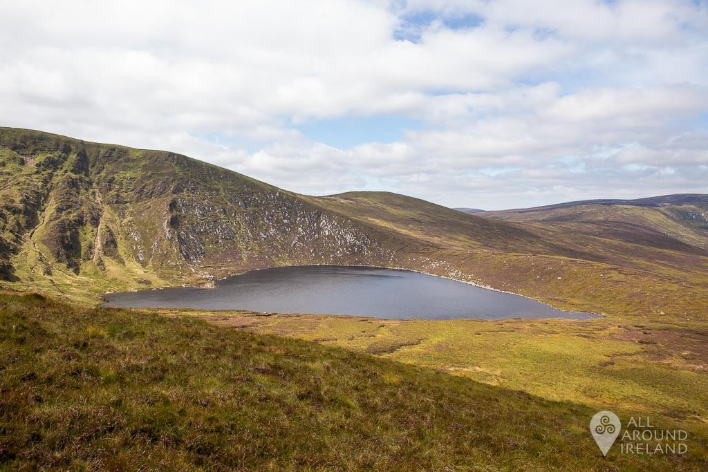 First glimpse of Lough Ouler on our hike.